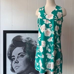 Renee C. Green Floral Dress